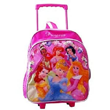 Amazon.com: Princess Rolling Backpack - Kid Size Roller Backpack ...