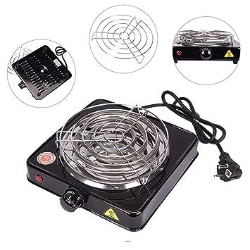 Pre&Mium Cocina Estufa Eléctrica para Shisha Cachimba Carbón Hornillo 1000w Hot Plate Electric Cooking