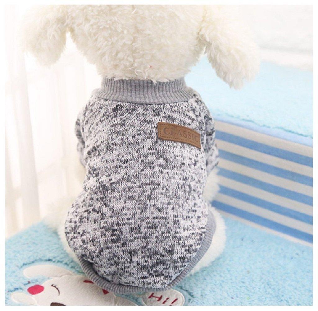 ILOVEDIY Pull pour Chien chihuahua moyen,vêtements pour chiens et chats chaud hiver costume (M, Bleu marine) Yong Li Factory