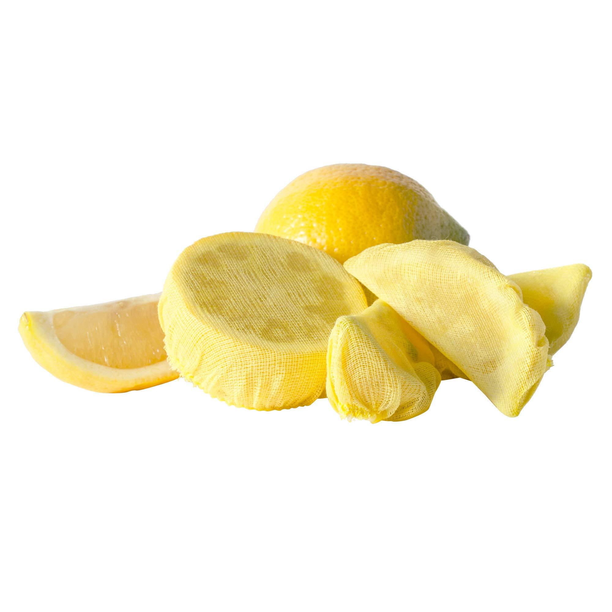TableTop King Paper RLWB25 Yellow Lemon Wedge Bag - 100/Pack