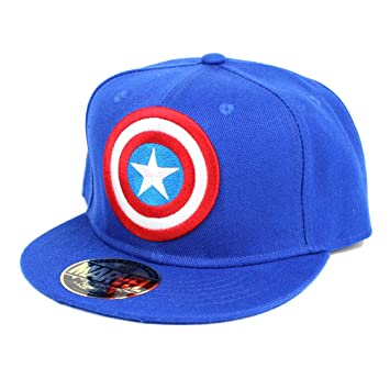 4a7574a24a8 Captain america Marvel Comics Snapback Cap - Classic Blue  Amazon.co.uk   Sports   Outdoors