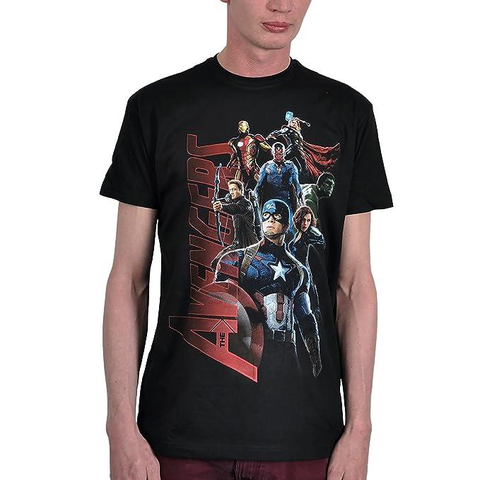Marvel Avengers - Camiseta con grande motivo collage estampado de los superhéroes- Licencia oficial - Algodón negro - XXXL: Amazon.es: Ropa y accesorios