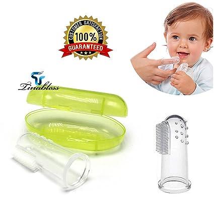 Baby Zahnfleischmassage Massage Zahnpflege Kinder Fingerzahnbürste Gesundheit