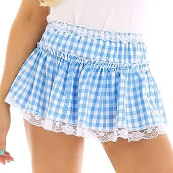 Agoky - Mini Falda de baño Sexy para Mujer y Hombre, con Encaje ...