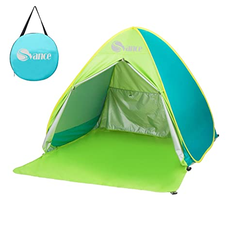 finest selection 59415 a490c Amazon.com: Svance Outdoor Pop Up Beach Tent/Automatic Sun ...