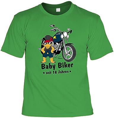 Biker Herren T-Shirt zum 18. Geburtstag lustiges Geburtstagsgeschenk 18  Jahre BABY BIKER seit 18 Jahren Motorradfahrer Geschenke 18. Geburtstag  Sprüche ...