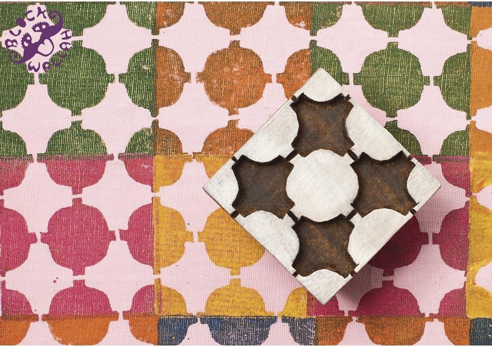 Royal Kraft 5 Inch Kreativ Drucken Stempel Gro/ß Mandala Runden Design Gro/ßer Holz Bl/öcke