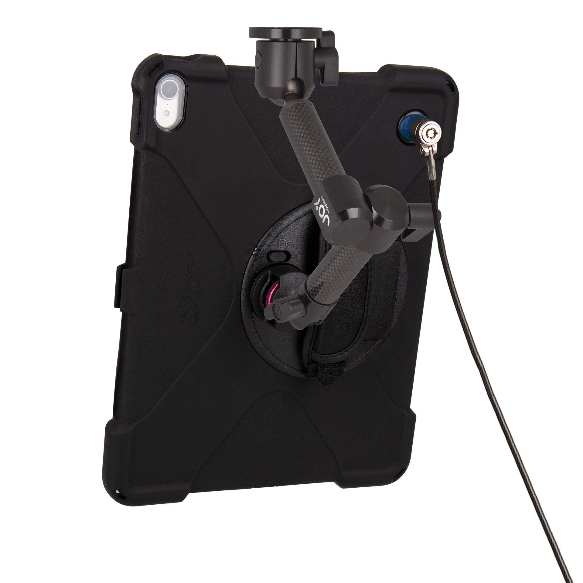 The Joy Factory MagConnect Carbon Fiber Wall/Counter Mount with aXtion Bold MPS Water-Resistant Rugged Security Case for iPad Pro 12.9'' [3rd Gen] Built-in Screen Protector, Hand Strap (MWA4104MPS) by The Joy Factory (Image #4)