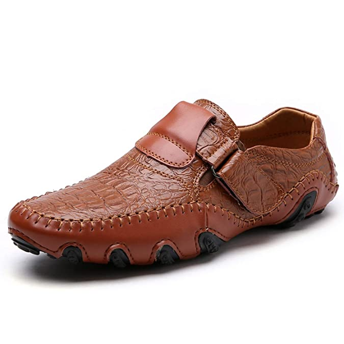 Amazon.com | Mens Casual Shoes British Style Moccasins Genuine Leather Flats Hombre Loafers Footwear Men | Loafers & Slip-Ons