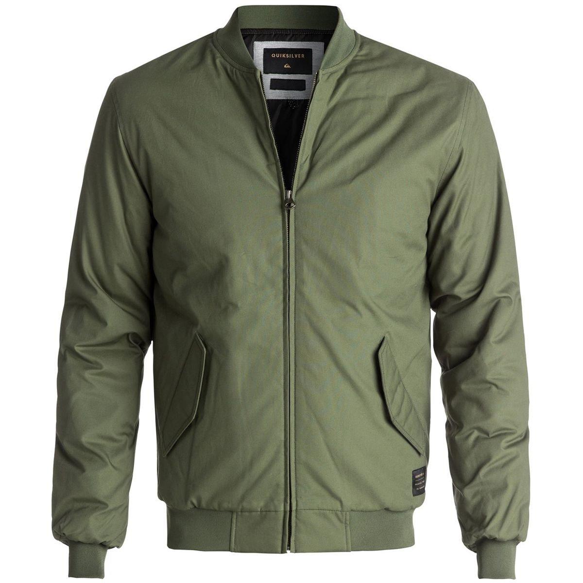 Quiksilver Men's Ogoki Bomber Winter Jacket, Four Leaf Clover, L