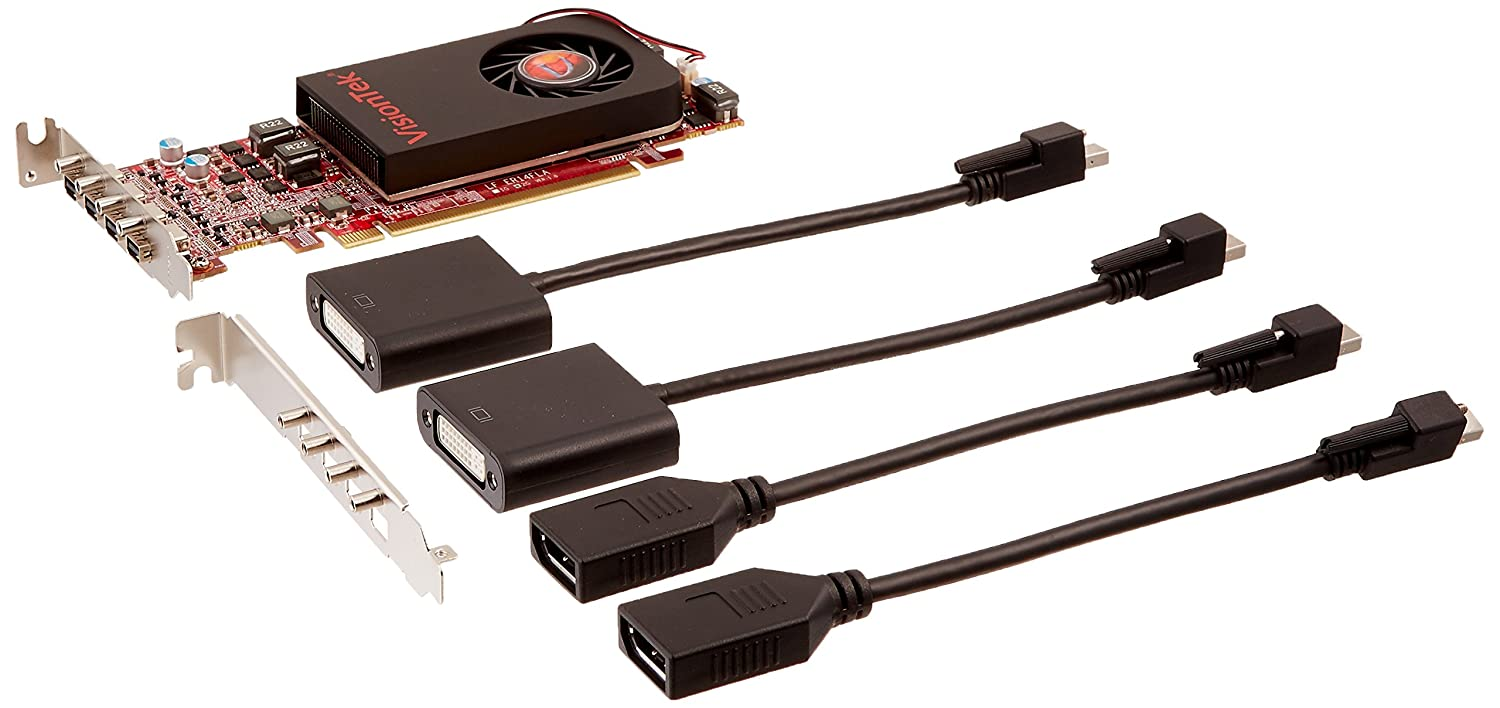 VisionTek Products Radeon 7750 SFF 2GB GDDR5 4M DirectX 11 OpenGL Single Fan Low Profile 4X miniDP Graphics Card 900798