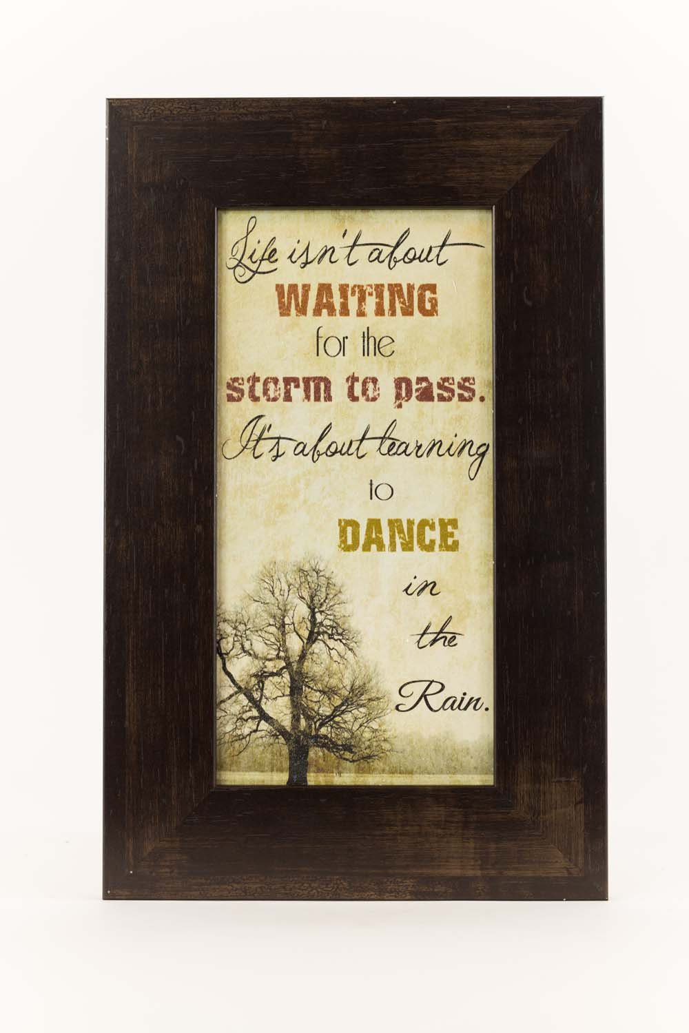 Life Isn't About Waiting For The Storm To Pass Dance In The Rain Art Decor 10x16''