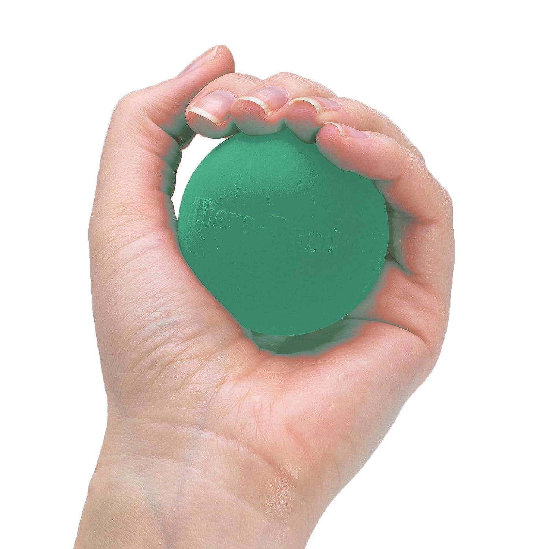 TheraBand Hand Exerciser Squeeze Ball Green – Medium, Standard
