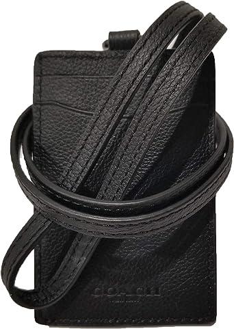 New COACH Mens ID Badge in Khaki Saddle Leather Sport Calf Lanyard Holder F31657