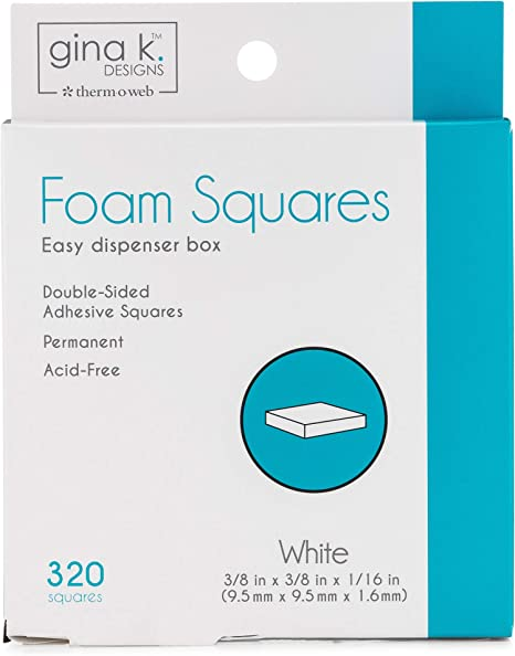 3D Foam Squares for Scrapbook /& Card Making 1 mm thick
