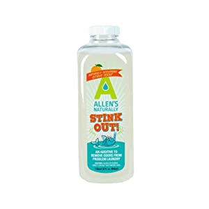 Allen's Naturally Stink Out Natural Stain Odor Remover, Safely Removes Stains & Odors for Diapers, Carpets, Towels, Bedding, Sportswear. for MCS (Multiple Chemical Sensitivity) 32 Ounces