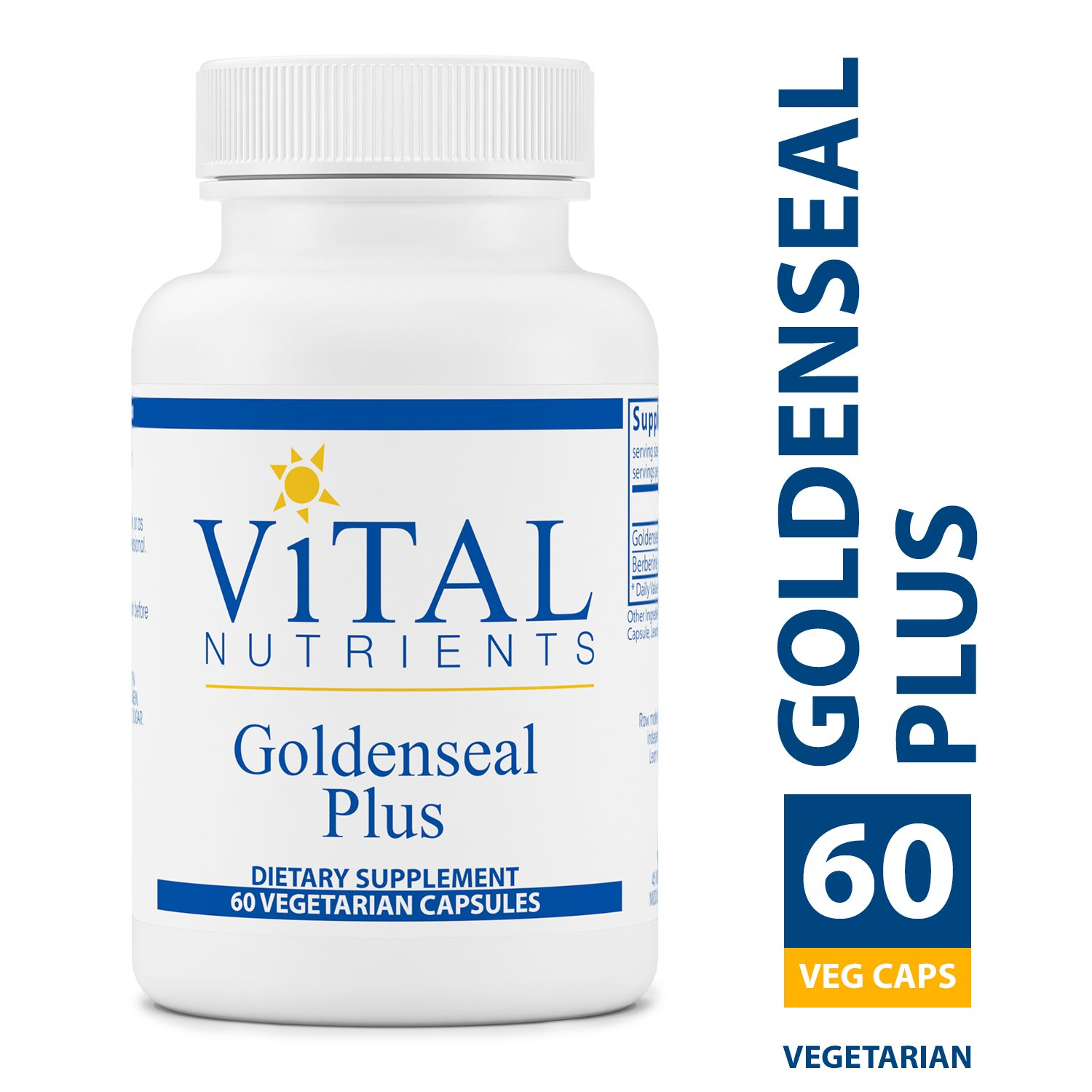 Vital Nutrients - Goldenseal Plus - Supports Healthy Immune & Gastrointestinal Function - 60 Capsules per Bottle