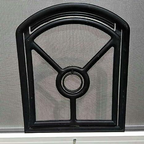 flyzzz plástico magnética automática cachorro mascota protector de puerta con cerradura, apertura tamaño: 7