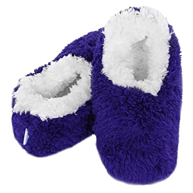 b95f8c49a54 Ladies Snoozies Slippers Cosy Foot Coverings OMG Dark Blue Size Large UK  6 7  Amazon.co.uk  Shoes   Bags
