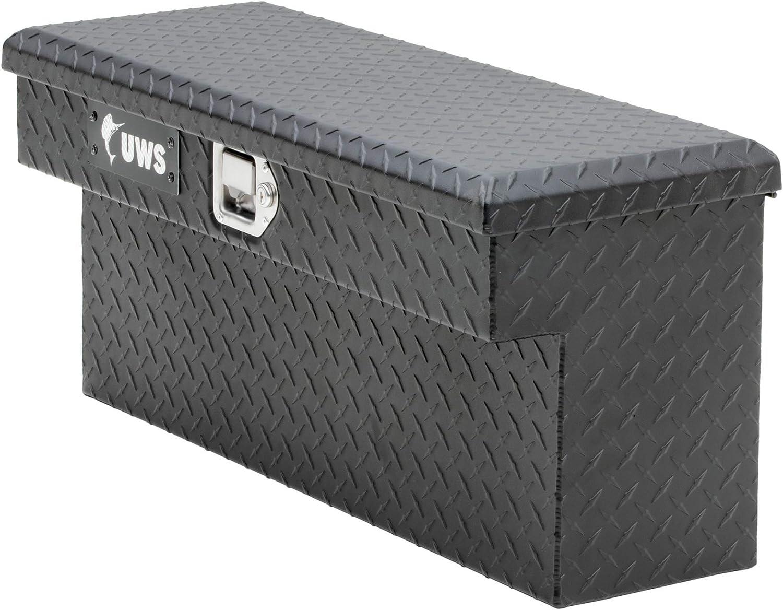 RigidCore Lid UWS EC10993 33-Inch Matte Black Heavy-Wall Aluminum UTV Side Tool Box for Select Polaris Ranger