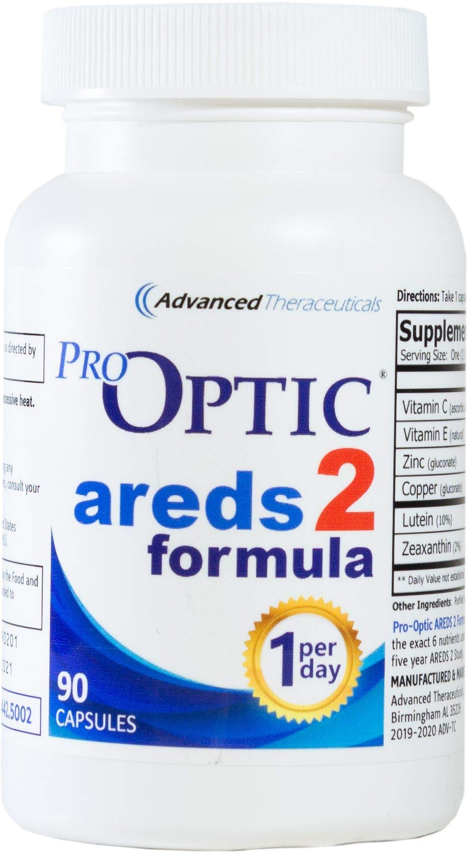 Pro-Optic AREDS 2 Formula (3 Month Supply) 1-Per-Day by Pro-Optic