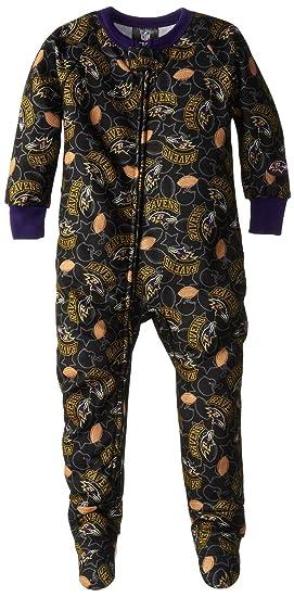 a39950fb0 NFL Baltimore Ravens Baby Boy s Blanket Sleeper Pajamas - Black (6 Months)