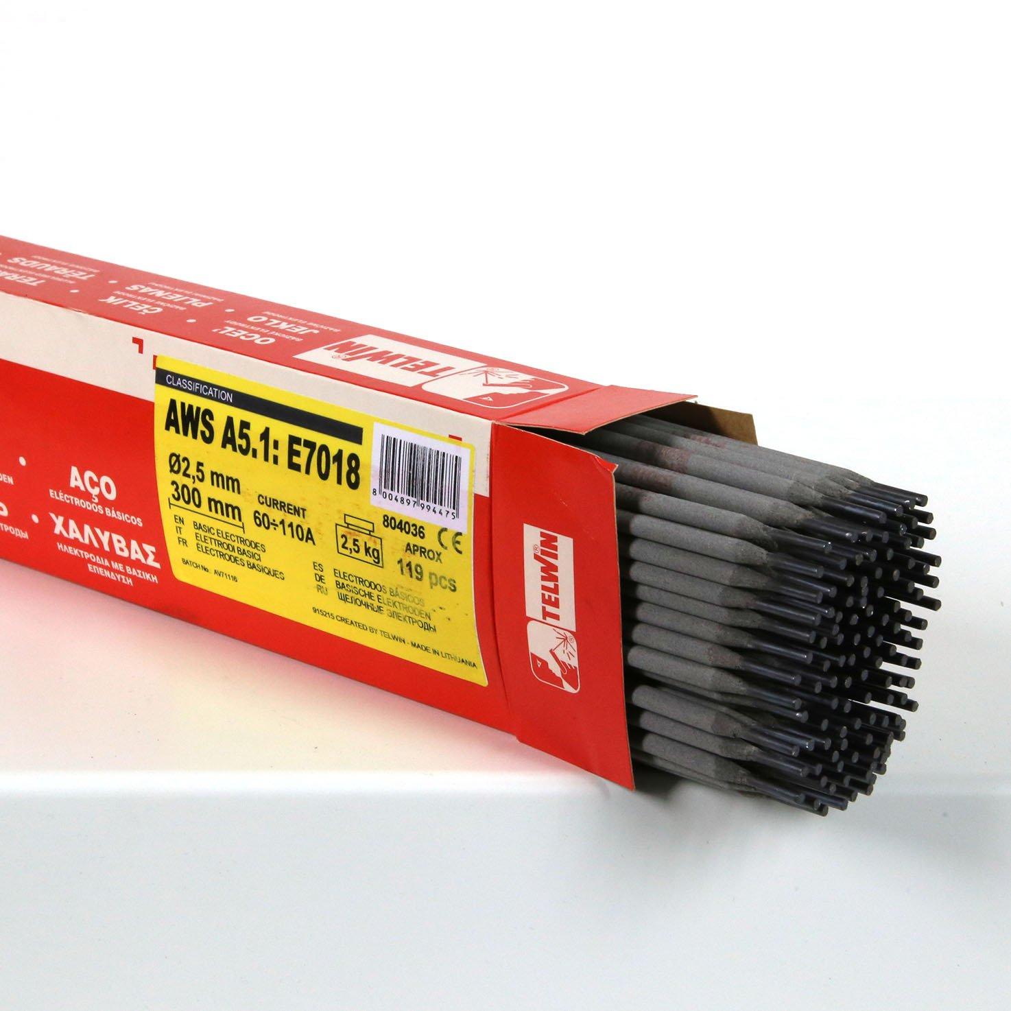 Telwin Electrodes Basiques pour Soudage  D 2,5 mm 2,5Kg