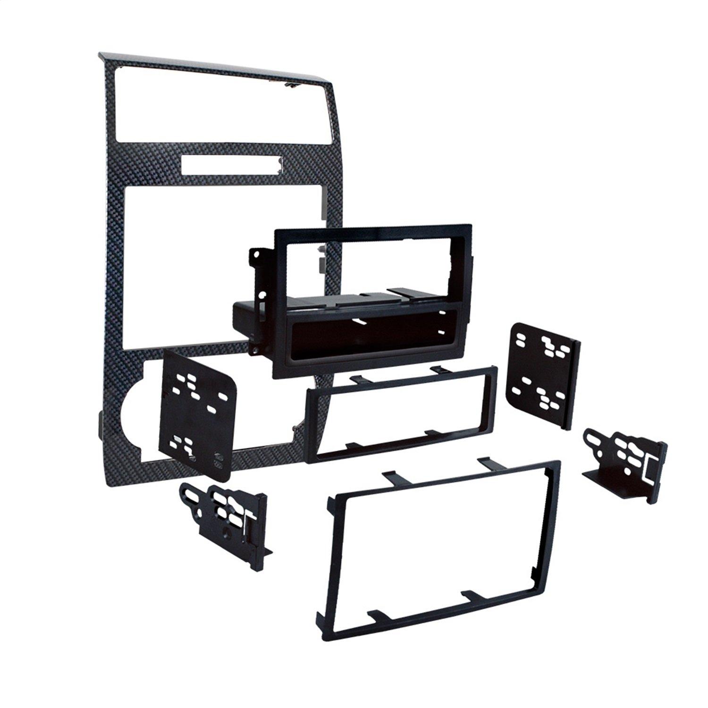 Metra 99-6519CF Single/Double DIN Dash Installation kit for Select 2005-07 Dodge Charger/Magnum Carbon Fiber (Carbon fiber)