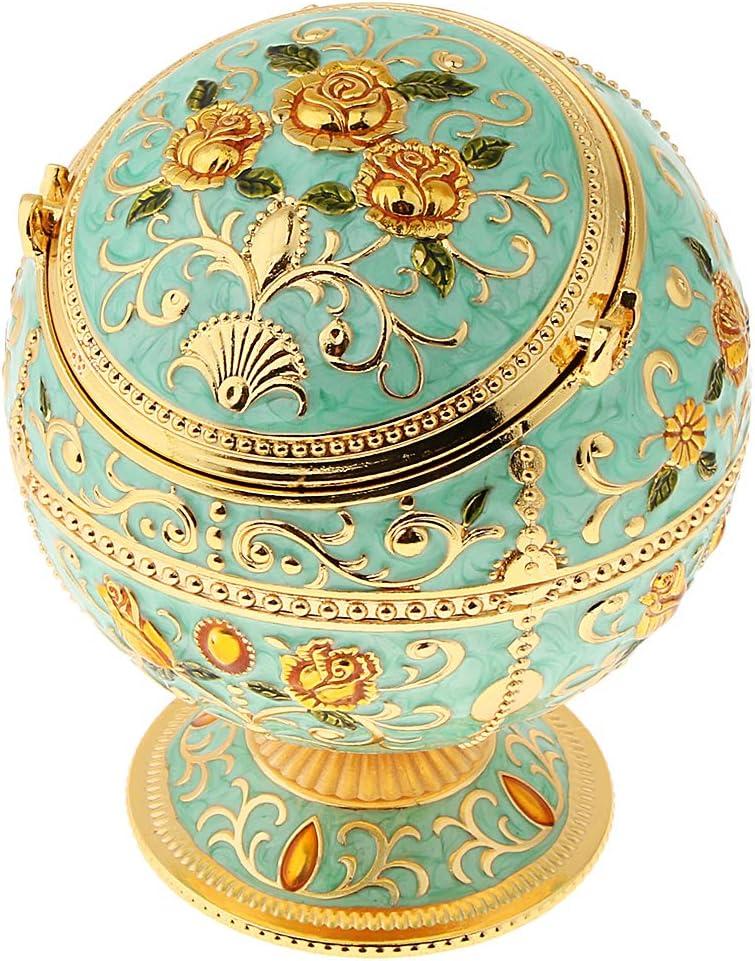 Baoblaze 1 St/ück Schmuckdose Vintage Schmuckschatulle Geschenk f/ür Geburtstag Jubil/äen und Party Golden Castle