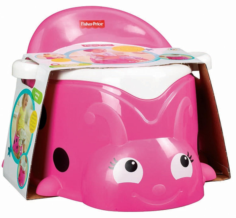Mattel Fisher-Price BBM85 Sweet Pink T/öpfchen in Marienk/äfer-Optik einfach zu reinigen