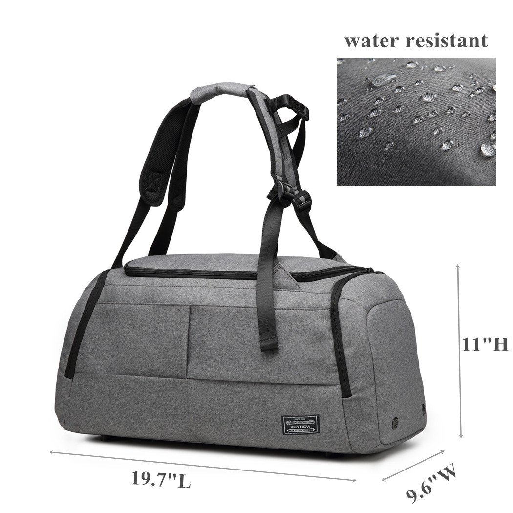 KEYNEW 55L Waterproof Duffel Sports Gym Bag for Men Women with Shoes Compartment by KEYNEW (Image #3)