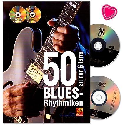 50 Blues de rhythmiken en la guitarra - Libro con 50 Blues patrón ...