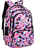 Fanci Geometric Prints Primary School Student Satchel Backpack For Girls
