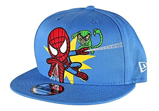 bf461675280 Tokidoki Marvel Spider-Man New Era 9Fifty Men s Blue Embroidered ...