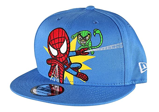 21a07c03a8f Image Unavailable. Image not available for. Colour  Tokidoki Marvel Spider-Man  New Era 9Fifty Men s Blue Embroidered Snapback Hat