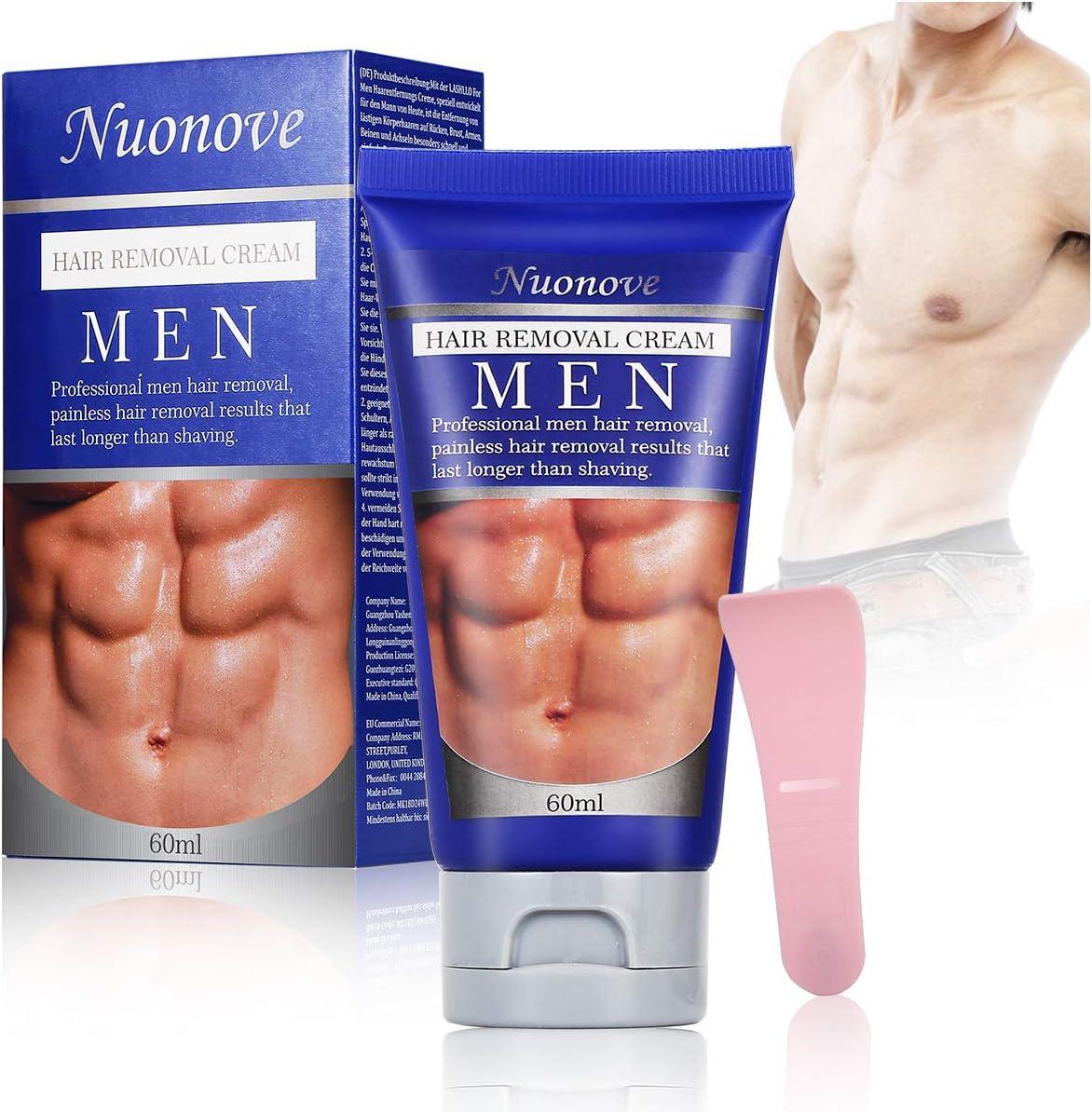 Crema Depilatoria, Hair Removal Cream, Crema Depilatoria Hombre, Bikini, Antebrazo, Depilación hombre, deja la piel suave, Extra Suave Hecha Para Hombres, 60ml