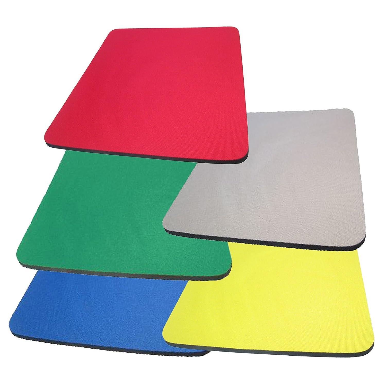 Fabric Mouse Mat Pad High Quality 5mm Thick Non Slip Foam 25cm x 22cm 6 Colours