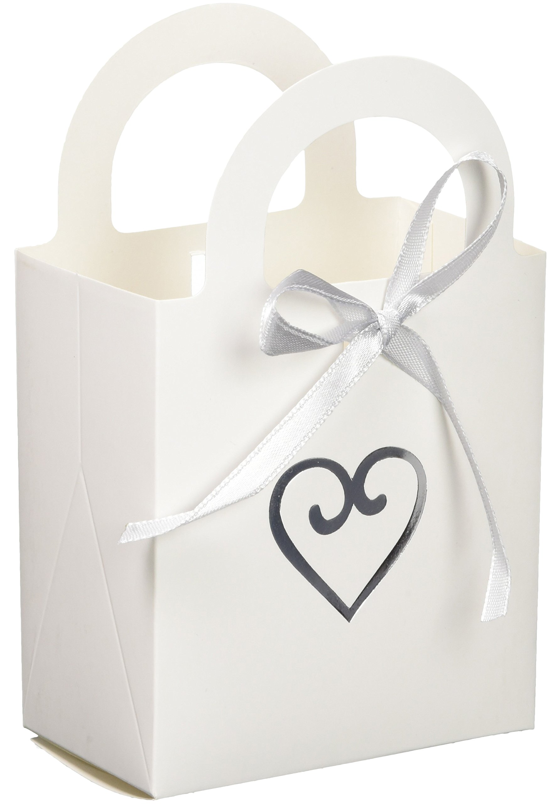Amscan Elegant White Heart Wedding Favour Bag Party Supplies , 200 Pieces by Amscan