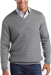 b57e023880ff Joseph Abboud Mens Wool Blend V-Neck Sweater