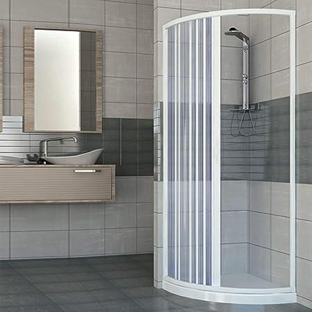 Mampara de ducha con una puerta de apertura lateral semicircular. Fabricado en PVC no tóxico autoextinguible. Reducible a través del corte del riel. Color blanco.: Amazon.es: Bricolaje y herramientas