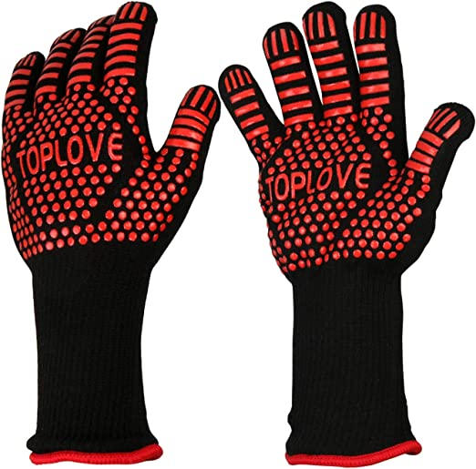 BBQ Glove Heat Resistant Insulated Gloves Non-Slip Grip Baking Hands Protector