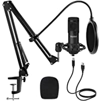 Studio USB Condenser Microphone, ikedon Professional 192kHz/24bit Cardioid Recording Microphone, Plug&Play Computer…
