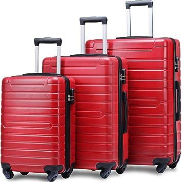 Amazon.com: Flieks - Juego de maletas (3 piezas, ligeras ...