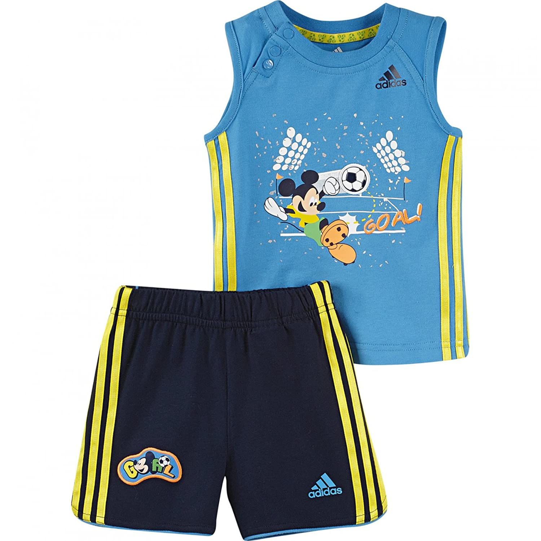 adidas Jungen Sommer Set Disney Mickey Short + Shirt: Amazon