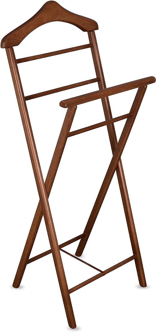 Kleiderständer Herrendiener Diener Dressboy Stummer Neu Bambus Holz Butler