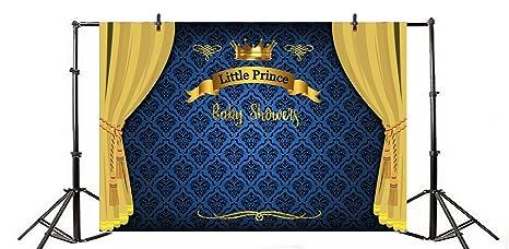 Amazon Com Yeele 10x6 5ft Boy Baby Shower Backdrop Vinyl Royal