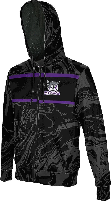 ProSphere Weber State University Mens Full Zip Hoodie Ripple