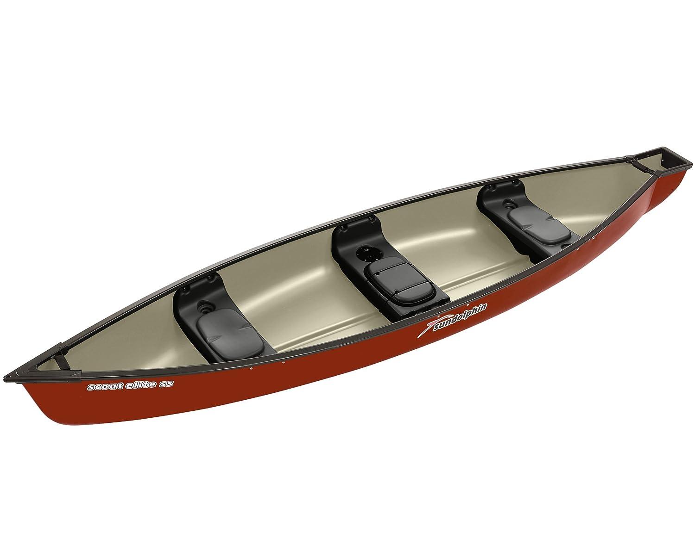 Amazon.com : Sun Dolphin Scout Elite SS Square Back Canoe (Hazelnut ...