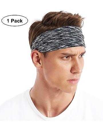 ff45b27dd1dee6 VIMOV Sports Stirnband Einstellbare Schweißband für Herren Damen, Feuchtig  keitstransport & Anti-Rutsch,