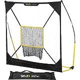 SKLZ Quickster Baseball and Softball Practice Net - Ultra Portable and Lightweight Quick Assembly Multi Sport Net